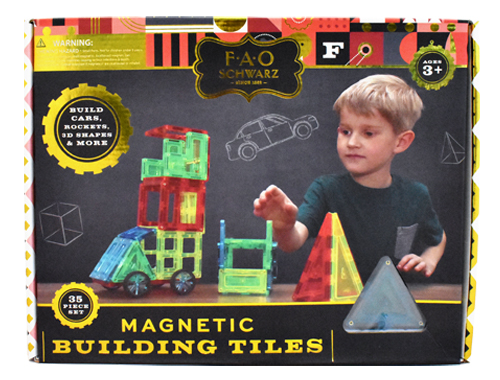 Magnetic Building Tiles: 35 Piece Set