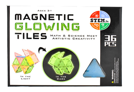 Magnetic Glowing Tiles: Math & Science Meet Artistic Creativity (STEM Jr.)