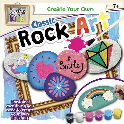 Create Your Own Classic Rock Art (Craft For Kids)