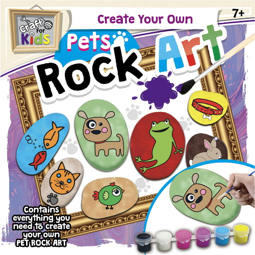 Create Your Own Pets Rock Art (Craft For Kids)