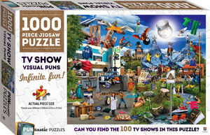TV Show Visual Puns: 1000 Piece Jigsaw Puzzle (Puntastic Puzzles)