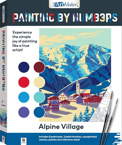 Alpine Village Painting by Numbers (Art Maker)