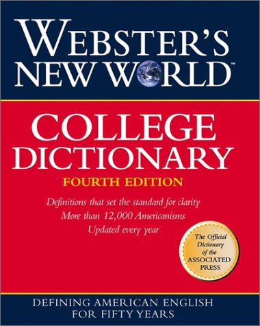 Webster's New World College Dictionary (Indexed, 4th Edition)