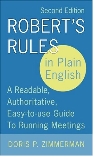 Robert's Rules in Plain English (2nd Edition)