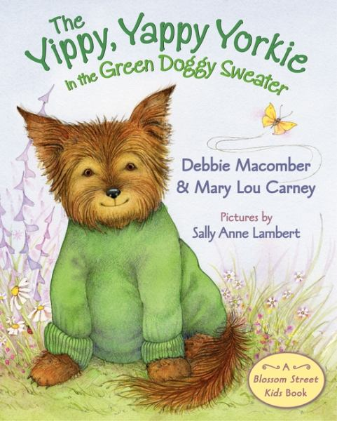 The Yippy, Yappy Yorkie in a Green Doggy Sweater