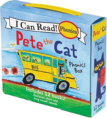 Pete the Cat Phonics Box: Includes 12 Mini-Books Featuring Short and Long Vowel Sounds (My First I Can Read Phonics)