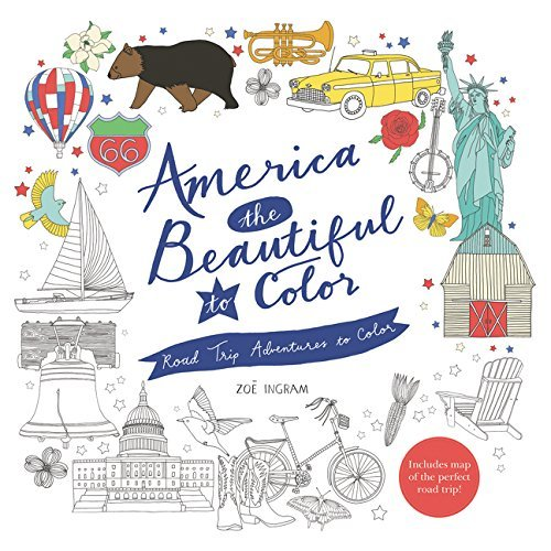 America the Beautiful to Color: Road Trip Adventures to Color