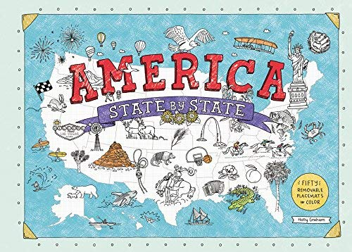 America State by State: Fifty Removable Placemats to Color