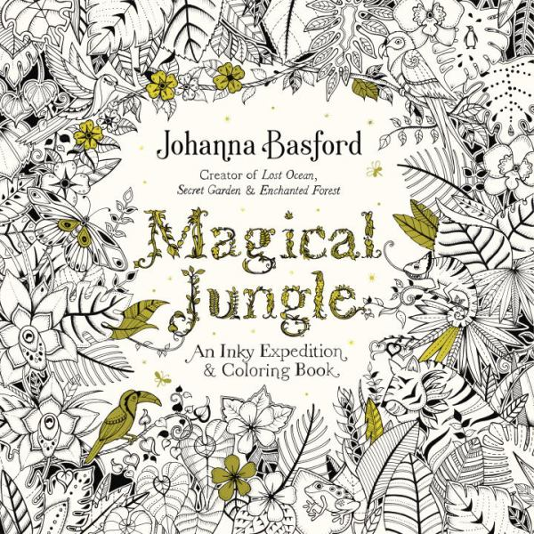 Magical Jungle: An Inky Expedition and Coloring Book for Adults