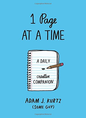 1 Page at a Time: A Daily Creative Companion (Blue)