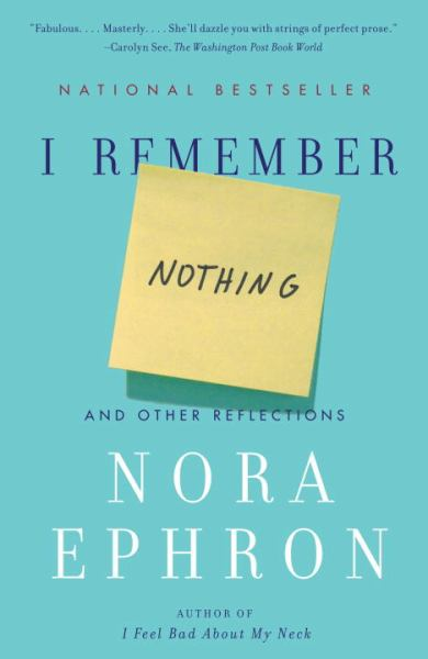 I Remember Nothing, and Other Reflections