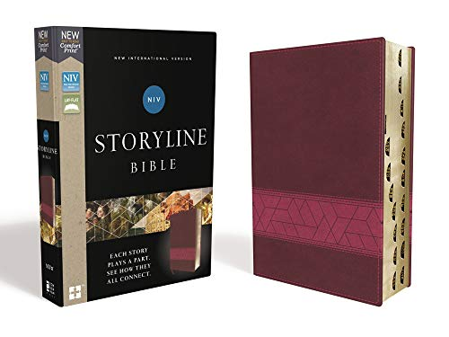 NIV Storyline Bible (Thumb Indexed, Pink Leathersoft)