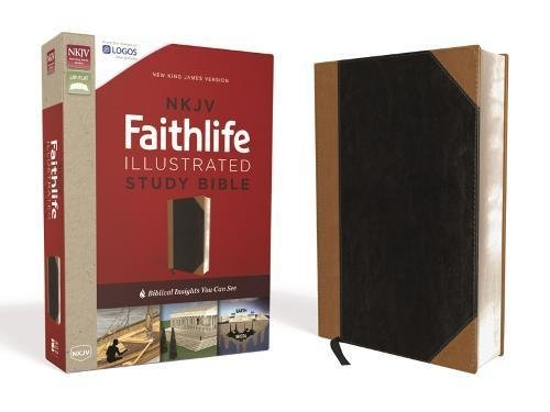 NKJV Faithlife Illustrated Study Bible (Black/Tan Leathersoft)