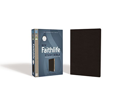 NIV Faithlife Study Bible (Black Bonded Leather, Thumb Indexed)