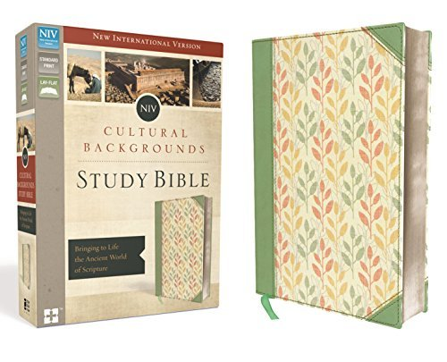 NIV Cultural Backgrounds Study Bible (Sage/Leaves Leathersoft)