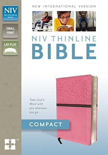 NIV Thinline Bible (Compact Pink/Brown Italian Duo-Tone)