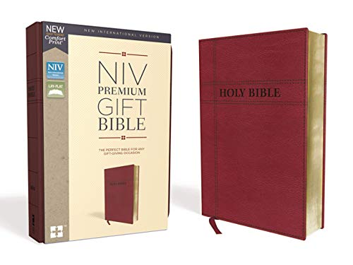 NIV Premium Gift Bible (Thumb Index, Burgundy Leathersoft)