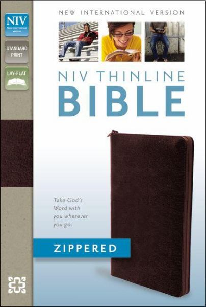 Thinline Zippered Bible (NIV, Burgundy Bonded Leather)