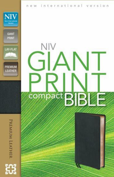 NIV Giant Print Compact Bible (Ebony Premium Leather)