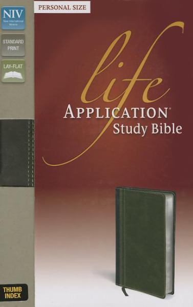 NIV Life Application Personal Size Study Bible (Thumb Index, Bark/Dark Moss Italian Duo-Tone)