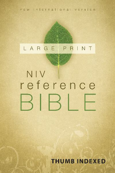 NIV Large Print Reference Bible (Thumb Indexed)