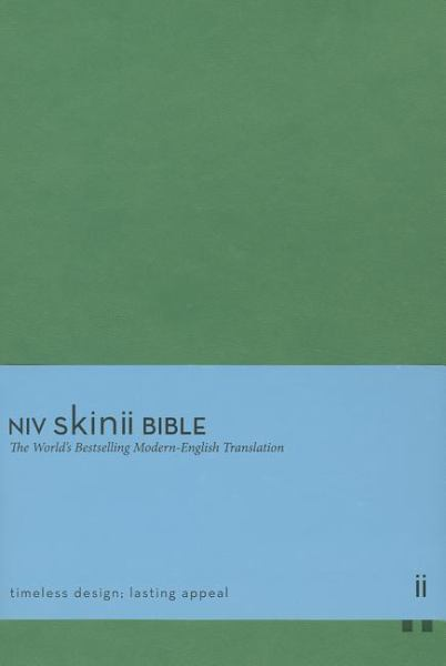 NIV Skinii Bible (NIV/Text, Green Italian Duo-Tone)