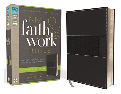 NIV Faith and Work Bible (Charcoal Italian Duo-Tone)