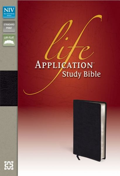 NIV Life Application Study Bible (Black Bonded Leather)