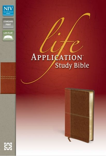 NIV Life Application Study Bible (Caramel/Dark Caramel Italian Duo-Tone)
