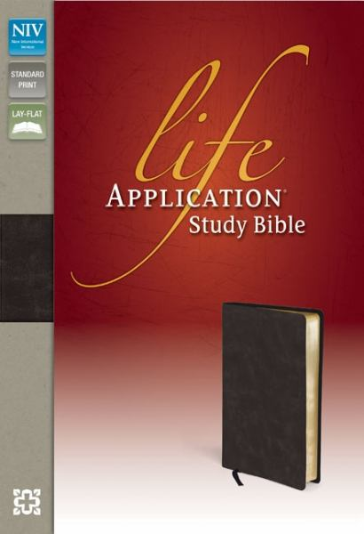 NIV Life Application Study Bible (Distressed Black Bonded Leather)