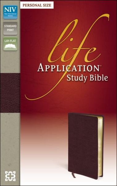 NIV Life Application Study Bible (Burgundy Bonded Leather)
