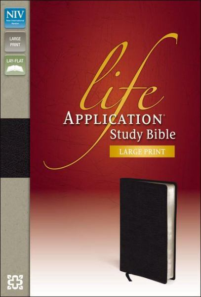 NIV Life Application Study Bible (Black Bonded Leather, Large Print)