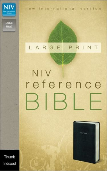 NIV Large Print Reference Bible (Thumb Indexed, Black Leather-Look)