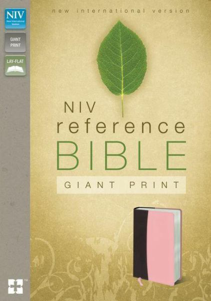 NIV Giant Print Reference Bible (Burgundy/Pink Italian Duo-Tone)