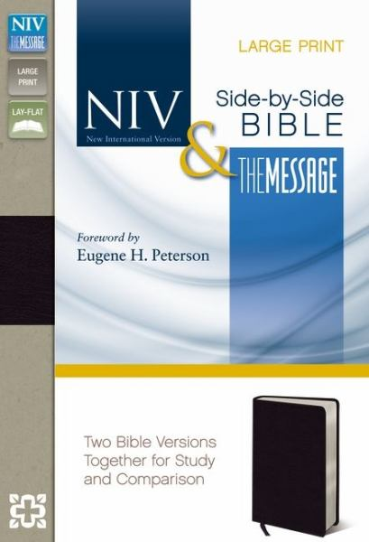 NIV & The Message, Large Print Parallel Bible (Black Bonded Leather