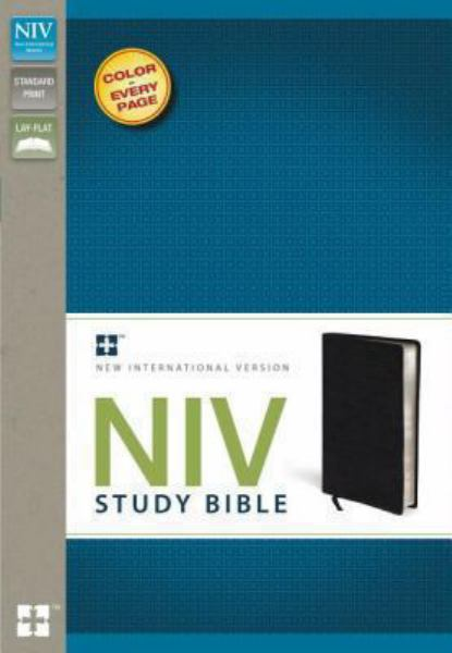 NIV Study Bible (Black Bonded Leather)