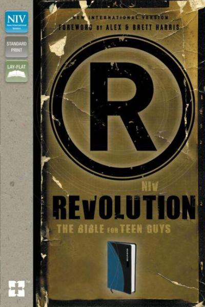 Revolution: The Bible for Teen Guys (NIV, Updated Edition, Mediterranean Blue Italian Duo-Tone)