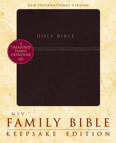 NIV Family Bible: Keepsake Edition (Burgundy Italian Duo-Tone)