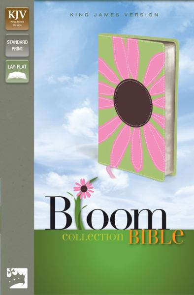 KJV Thinline Bloom Collection Bible (KJV, Text, Pink Daisy Italian Duo-Tone)
