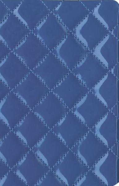 Thinline Quilted Collection Bible (NIV, Text, Blueberry Italian Duo-Tone)