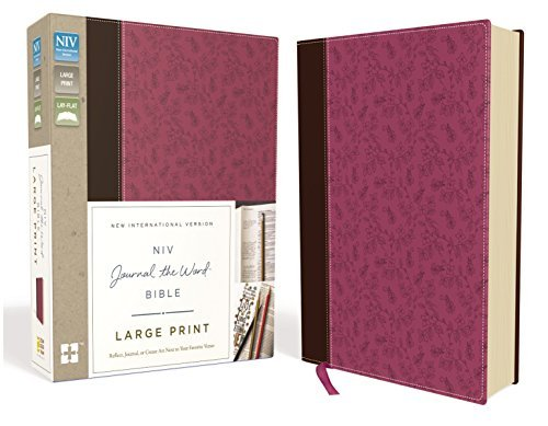 NIV Journal the Word Bible (Large Print, Pink/Brown Leathersoft)