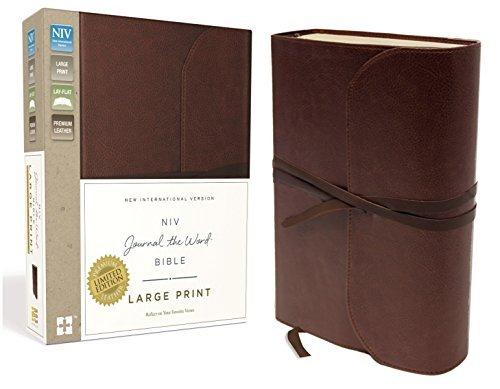 NIV, Journal the Word Bible (Large Print, Brown Leather)