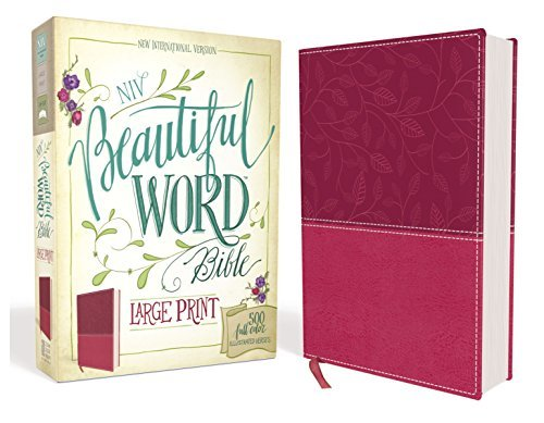 NIV Beautiful Word Bible (Large Print, Pink Leathersoft)