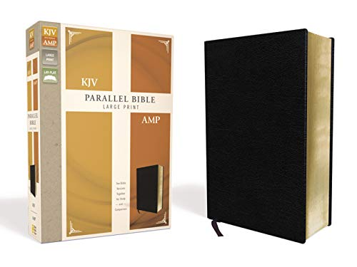KJV/AMP Parallel Bible (Large Print, Black Bonded Leather)