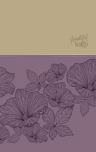 NIV Beautiful Word Coloring Bible (Large Print, Purple/Tan Leathersoft)