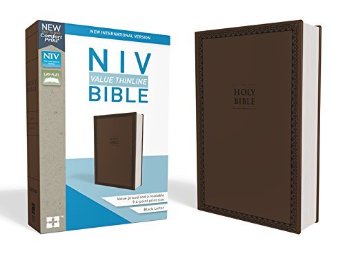 NIV Value Thinline Bible (Chocolate Leathersoft)