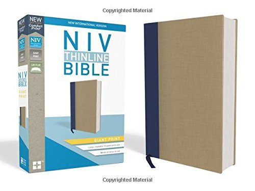 NIV Giant Print Thinline Bible (Blue/Tan Cloth Over Board)
