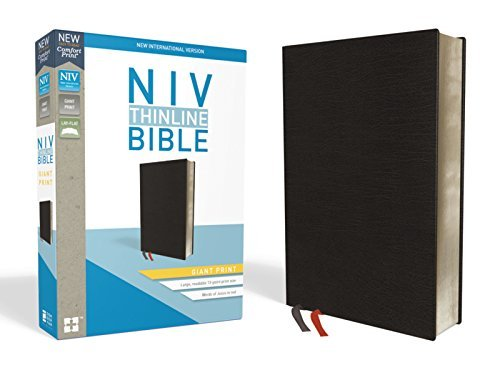 NIV Giant Print Thinline Bible (Black Bonded Leather)