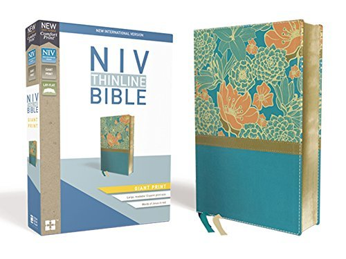 NIV, Giant Print Thinline Bible (Turquoise, Leathersoft)