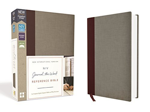 NIV Journal the Word Reference Bible (Burgundy/Gray Cloth Over Board)